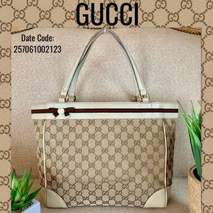 Gucci shoulder bag GG pattern leather canvas